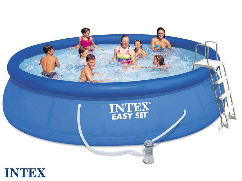 Intex autostable 457 x 107 m for Piscine hors sol ultra silver 4 57 x 2 74