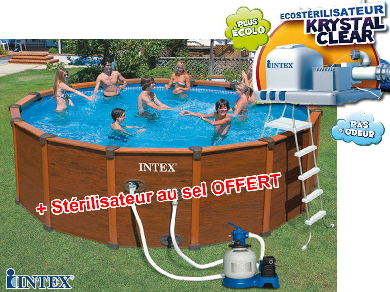 Intex s quoia spirit 478 x 124 m ecost ril for Piscine hors sol sequoia spirit intex