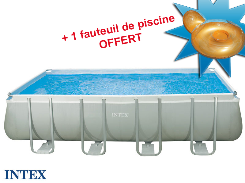 Intex tubulaire rectangulaire 457x274x122m for Piscine tubulaire intex rectangulaire