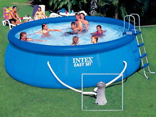 Intex kit piscine easy set ronde x for Piscine intex 4 57 x 1 22