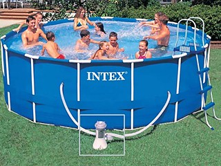 intex kit piscine tubulaire metal frame x