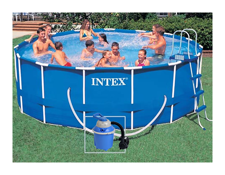 intex piscine metal frame filtration sable. Black Bedroom Furniture Sets. Home Design Ideas