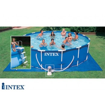 intex piscine metal frame 4m27 x 1m22. Black Bedroom Furniture Sets. Home Design Ideas