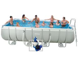 Intex piscine tubulaire 549 x 274 x 132 cm rectangulair for Piscine tubulaire rectangulaire 549 x 274 x 122 cm
