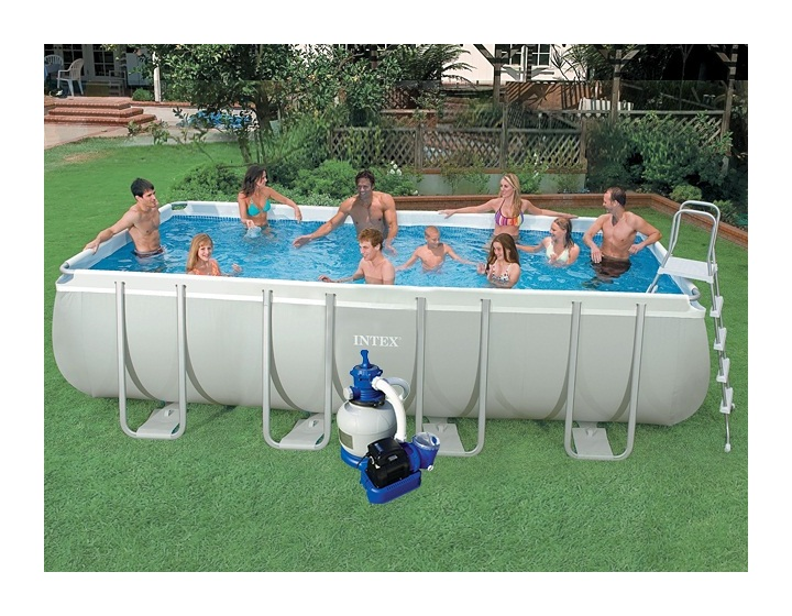 Intex piscine ultra silver filtre for Piscine hors sol ultra silver 4 57 x 2 74