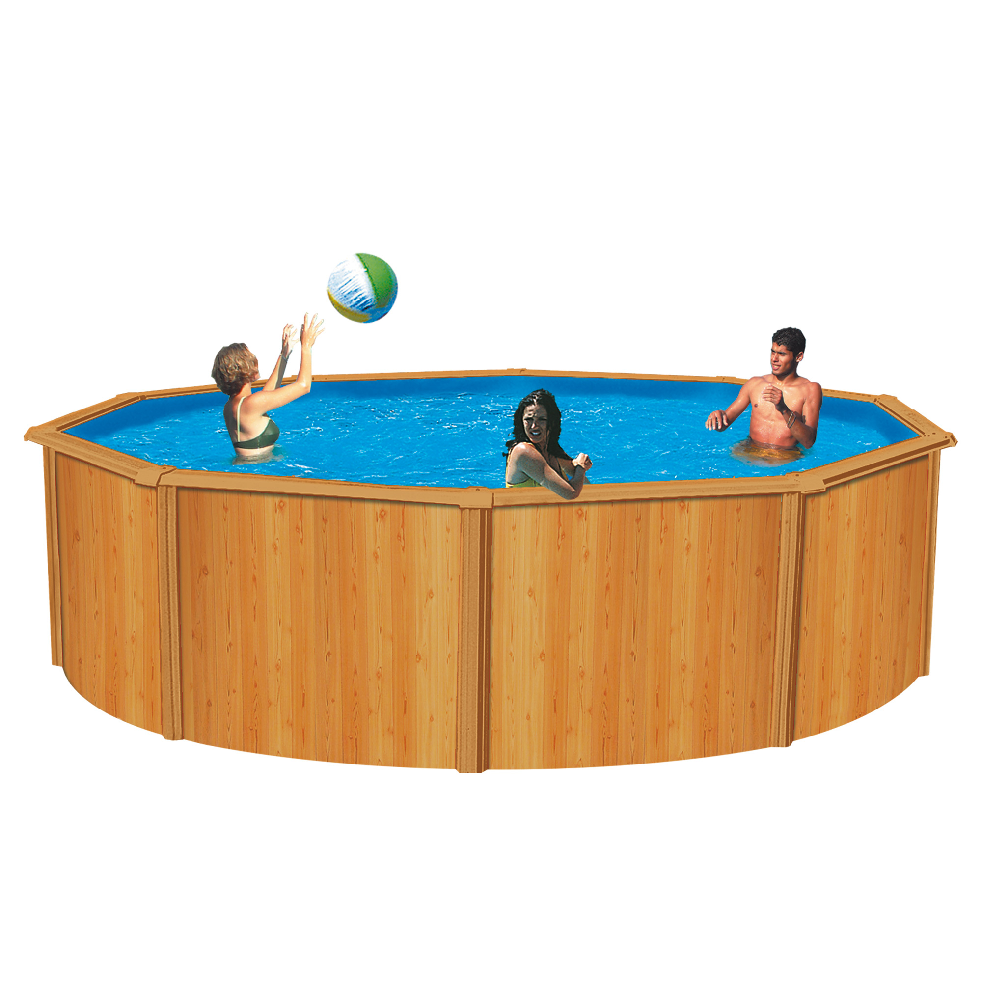 Trigano piscine canyon aspect bois for Comparateur de prix piscine bois
