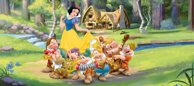 Disney cposter g ant blanche neige et les 7 nains - Maison blanche neige et les 7 nains ...