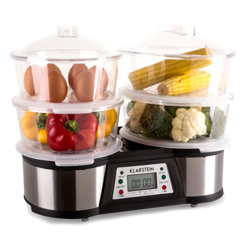 Klarstein vitair support tourne broche 10012291 100122 for Machine vapeur cuisine