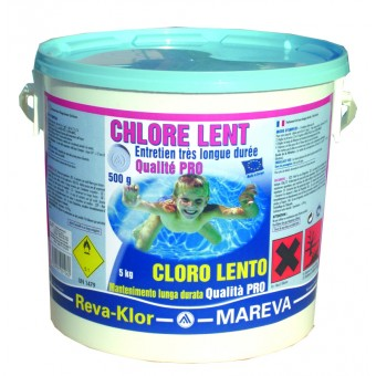 Mareva cchlore lent 5 kg 500g for Concentration chlore piscine