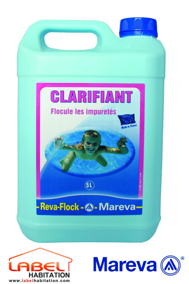 Mareva floculant reva flock 5l for Clarifiant piscine
