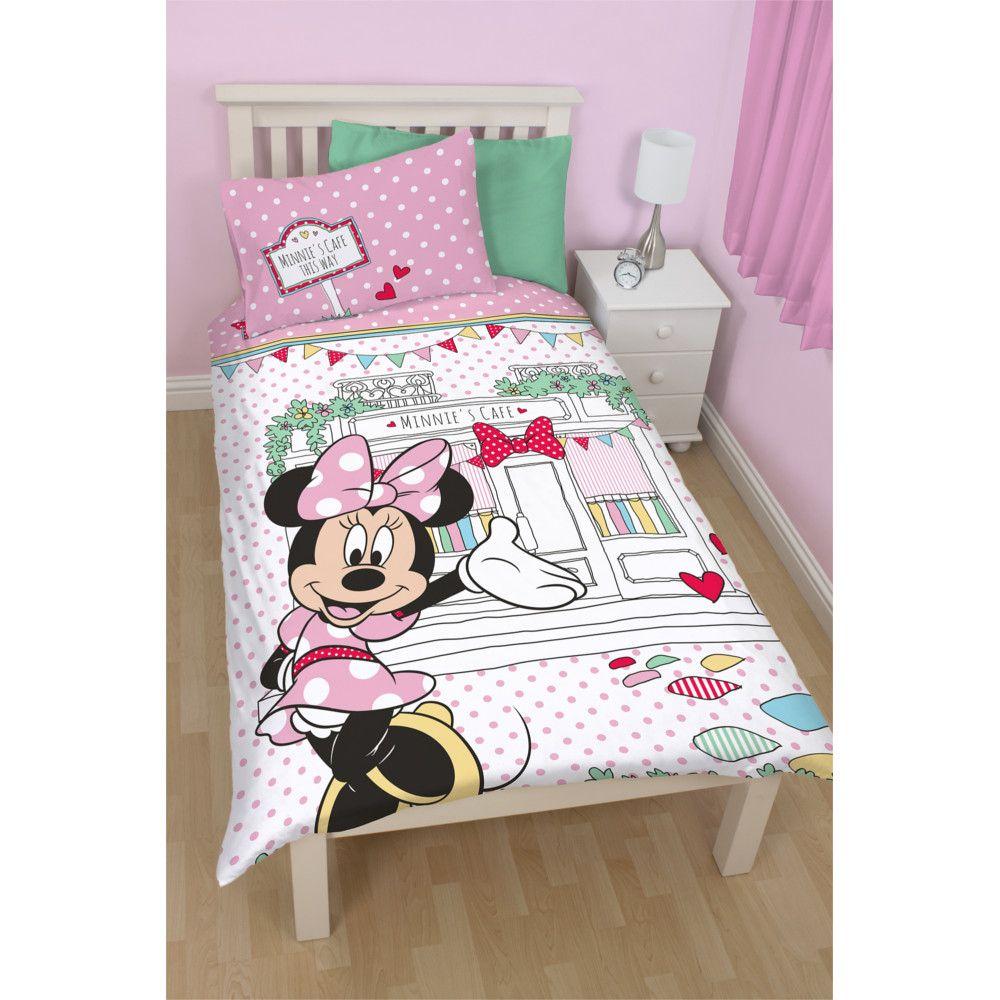 disney parure de lit r versible minnie mouse caf. Black Bedroom Furniture Sets. Home Design Ideas