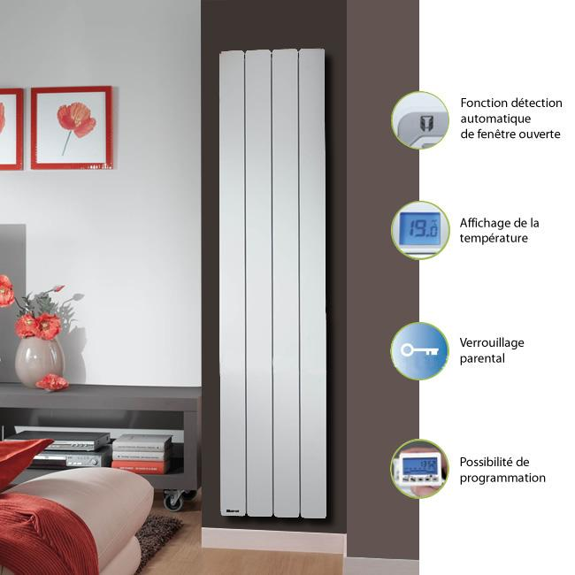 noirot bellagio 2 vertical 2000w blanc vertical catgorie radiateur. Black Bedroom Furniture Sets. Home Design Ideas