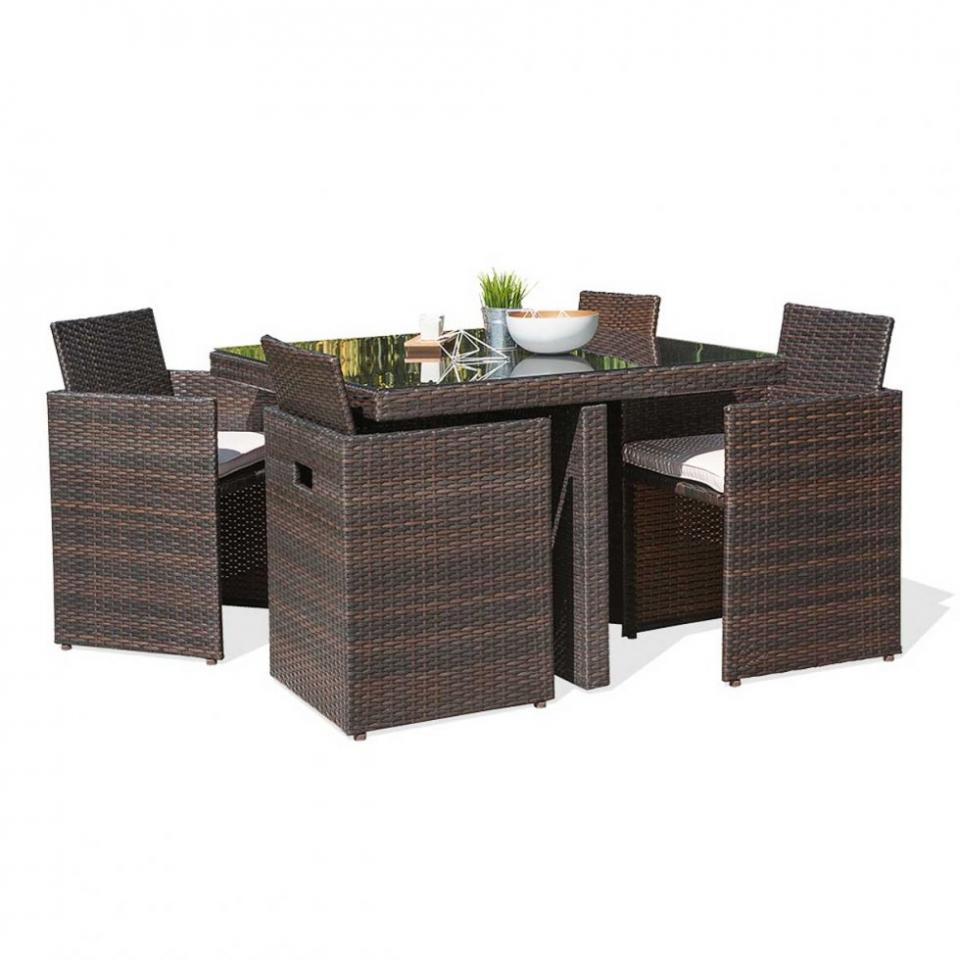 Dcb catgorie table de jardin - Salon de jardin tresse couleur chocolat ...