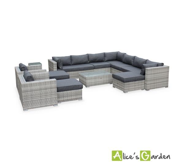alice cs garden salon de jardin en r sine tress e nuanc. Black Bedroom Furniture Sets. Home Design Ideas