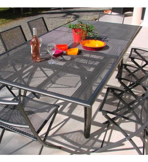 Deco table aluminium perfor e chine - Deco chine salon de jardin ...