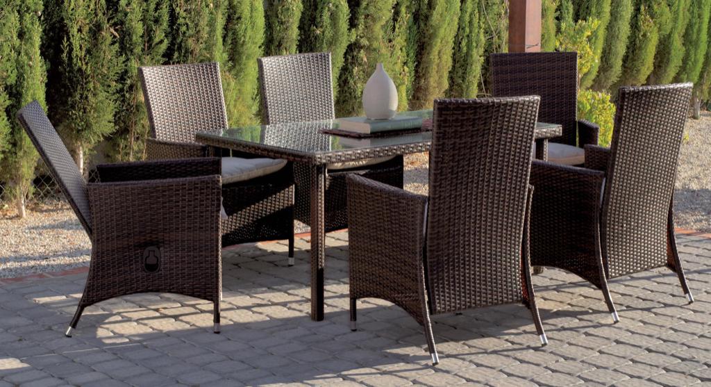 Hevea - Salon jardin fauteuils multipositions Riva