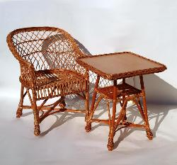 msk ensemble en osier naturel adril 3 pi ces table verre 2 chaises. Black Bedroom Furniture Sets. Home Design Ideas