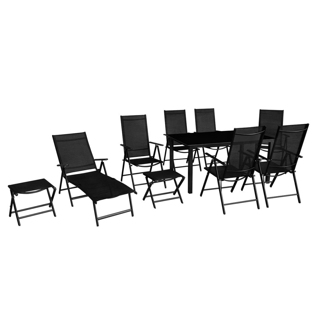 Vidaxl ensemble table et chaises rotin gris 4 pices catgorie salon de jardin - Mobilier de jardin en aluminium ...