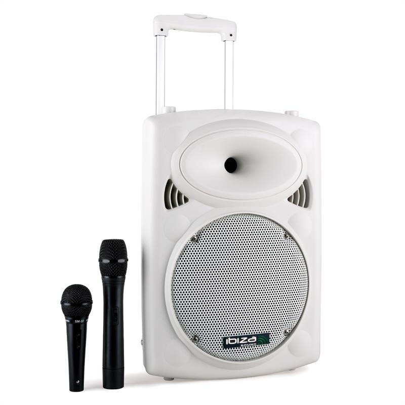 ibiza c port10vhf bt wh batterie bluetooth usb sd 500w blanc catgorie matriel pour dj. Black Bedroom Furniture Sets. Home Design Ideas