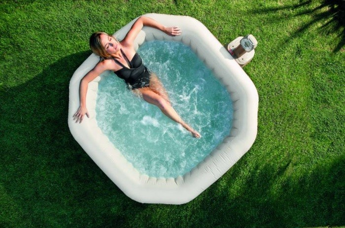 Intex spa gonflable purespa bulles octogonal - Accessoire jacuzzi gonflable ...