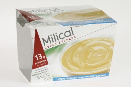 Milical Coupelle Repas Express 1 repas Saveur Vanille Cara