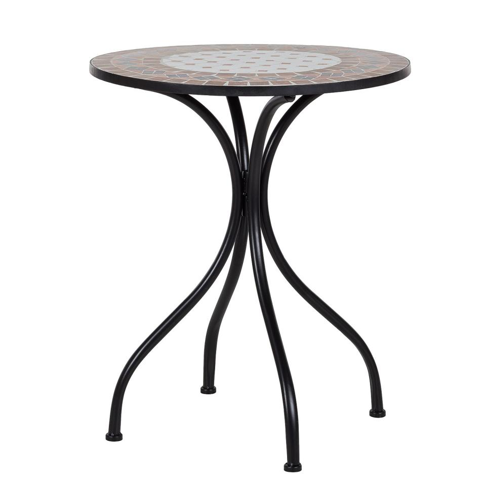 Table jardin metal ronde pliante 1 table jardin tosca i for Table ronde metal