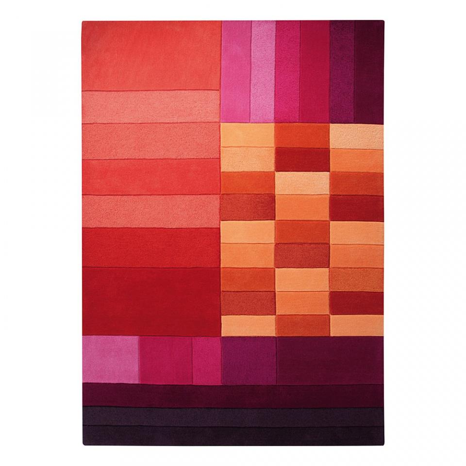 tapis c rouge et orange various box esprit home. Black Bedroom Furniture Sets. Home Design Ideas