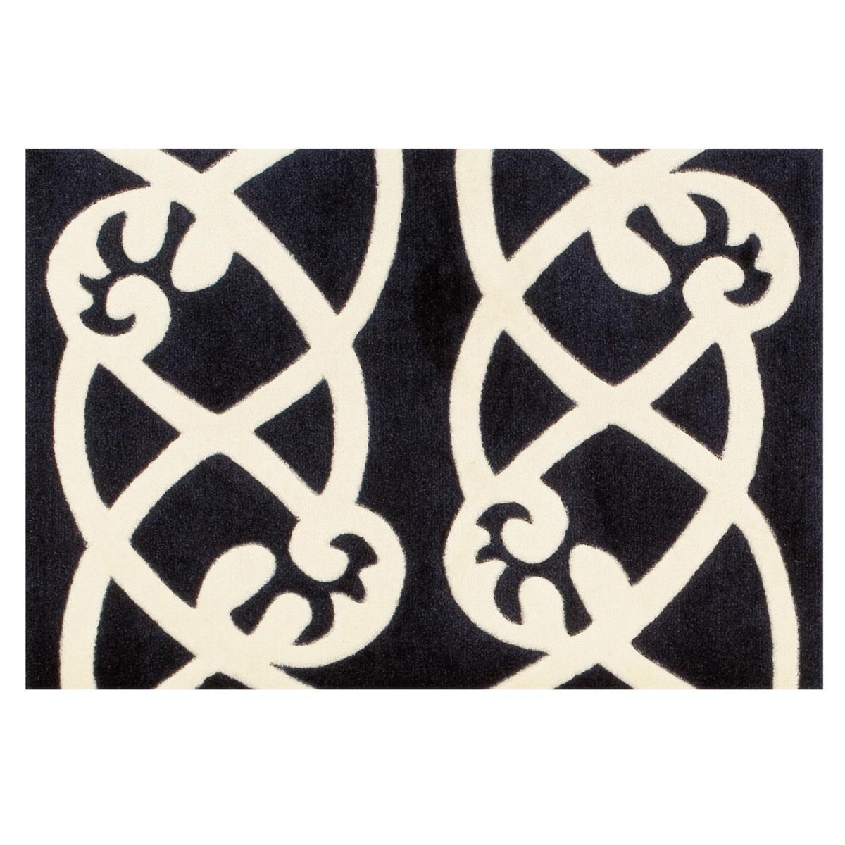 Arte Tapis De Couloir Style Par Espina Noir Blanc 64 X