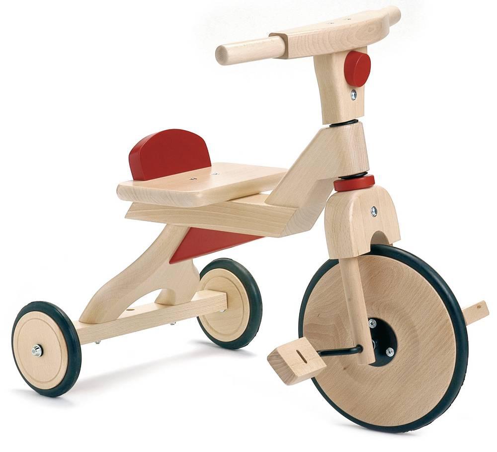 dam tricycle en bois rouge. Black Bedroom Furniture Sets. Home Design Ideas